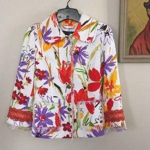 Dolce & Gabbana multicolor floral blazer 40